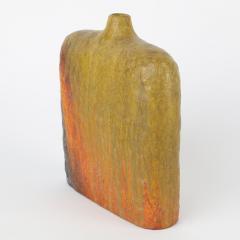 Marcello Fantoni Signed Marcello Fantoni Orange and Green Vase - 469777