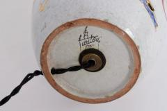 Marcello Fantoni Tall Marcello Fantoni Colorful Hand Painted Harlequin Ceramic Table Lamp - 1583226