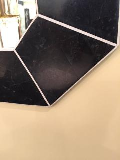 Marcius Style Black and White Fossil Stone Console with Matching Mirror - 113345