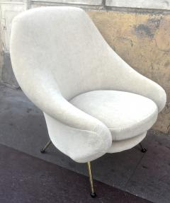 Marco Zanuso Marco Zanuso Vintage Lounge Chair model Martingale Covered in Mohair Velvet - 665279