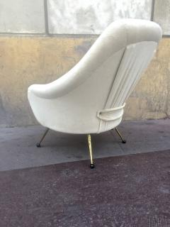 Marco Zanuso Marco Zanuso Vintage Lounge Chair model Martingale Covered in Mohair Velvet - 665284