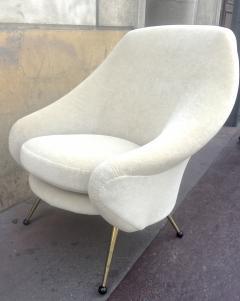 Marco Zanuso Marco Zanuso Vintage Lounge Chair model Martingale Covered in Mohair Velvet - 665286