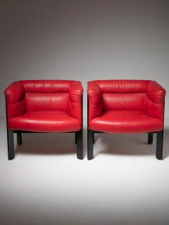 Marco Zanuso Pair of Interlude Chairs by Marco Zanuso for Poltrona Frau - 1137579