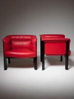 Marco Zanuso Pair of Interlude Chairs by Marco Zanuso for Poltrona Frau - 1137583