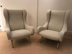 Marco Zanuso Pair of Senior armchairs for Arflex - 2116602