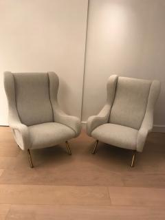 Marco Zanuso Pair of Senior armchairs for Arflex - 2116603
