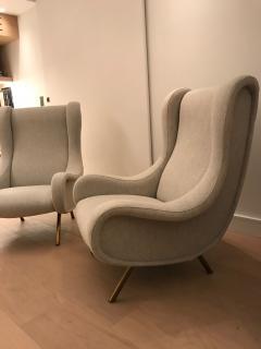 Marco Zanuso Pair of Senior armchairs for Arflex - 2116609