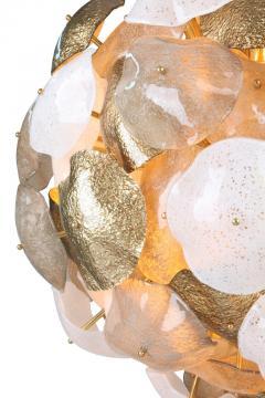 Mare Murano Glass Sputnik Chandelier with 24 Carat Gold Leaf - 1475033