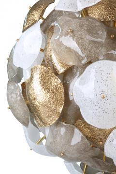 Mare Murano Glass Sputnik Chandelier with 24 Carat Gold Leaf - 1475040
