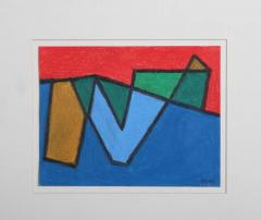 Margo Hoff Original Abstract On Paper By American Margo Hoff - 579430