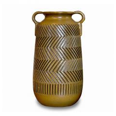 Mari Simmulsson Striking Pair of Zig Zag Floor Vases by Mari Simmulson for Upsala Ekeby - 1482666