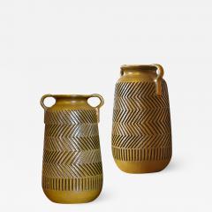 Mari Simmulsson Striking Pair of Zig Zag Floor Vases by Mari Simmulson for Upsala Ekeby - 1486218
