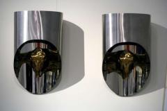 Maria Pergay Lampe Totem Pair of Gilt Bronze Sconces - 444178