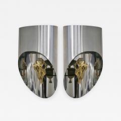 Maria Pergay Lampe Totem Pair of Gilt Bronze Sconces - 444632
