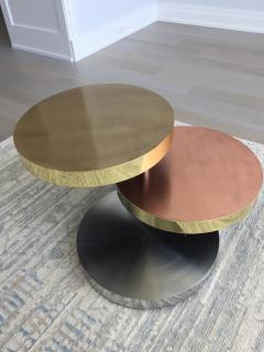 Maria Pergay Maria Pergay Style vintage unsigned Three tier swivel table - 1369859