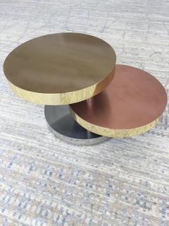 Maria Pergay Maria Pergay Style vintage unsigned Three tier swivel table - 1369860