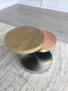 Maria Pergay Maria Pergay Style vintage unsigned Three tier swivel table - 1369861