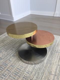 Maria Pergay Maria Pergay Style vintage unsigned Three tier swivel table - 1369863