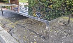 Maria Pergay Mary Pergay longest steel polished coffee table - 1652115
