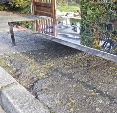 Maria Pergay Mary Pergay longest steel polished coffee table - 1652116