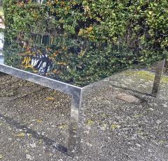 Maria Pergay Mary Pergay longest steel polished coffee table - 1652117