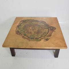 Maria Teresa Mendez Mexico City Graphic Art Coffee Table in Goatskin by Maria Teresa Mendez 1970s - 1988229
