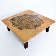 Maria Teresa Mendez Mexico City Graphic Art Coffee Table in Goatskin by Maria Teresa Mendez 1970s - 1988230