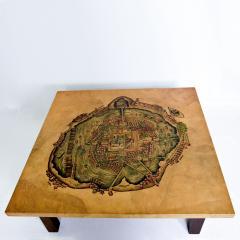 Maria Teresa Mendez Mexico City Graphic Art Coffee Table in Goatskin by Maria Teresa Mendez 1970s - 1988232