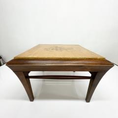 Maria Teresa Mendez Neoclassical Mahogany Goatskin Side Tables Hand Painted - 1949510