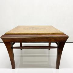 Maria Teresa Mendez Neoclassical Mahogany Goatskin Side Tables Hand Painted - 1949511