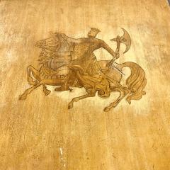 Maria Teresa Mendez Neoclassical Mahogany Goatskin Side Tables Hand Painted - 1949518