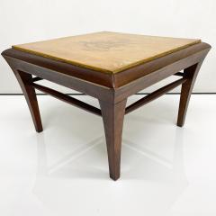 Maria Teresa Mendez Neoclassical Mahogany Goatskin Side Tables Hand Painted - 1949519