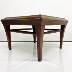 Maria Teresa Mendez Neoclassical Mahogany Goatskin Side Tables Hand Painted - 1949521