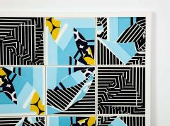 Mariana Lloyd Contemporary Composition with Limited Edition Tiles by Brazilian Designer - 1251994