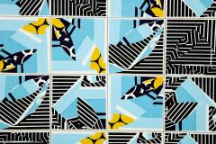 Mariana Lloyd Contemporary Composition with Limited Edition Tiles by Brazilian Designer - 1251997