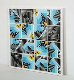 Mariana Lloyd Contemporary Composition with Limited Edition Tiles by Brazilian Designer - 1251999