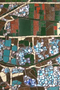 Mariana Lloyd One of a Kind Contemporary Mosaic ML2909 by Brazilian Artist Mariana Lloyd 2020 - 2040224