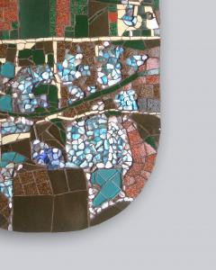 Mariana Lloyd One of a Kind Contemporary Mosaic ML2909 by Brazilian Artist Mariana Lloyd 2020 - 2040225