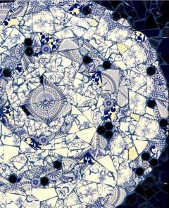 Mariana Lloyd One of a Kind Contemporary Spiral Mosaic 01 by Brazilian artist Mariana Lloyd - 1251957