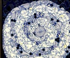 Mariana Lloyd One of a Kind Contemporary Spiral Mosaic 01 by Brazilian artist Mariana Lloyd - 1251964