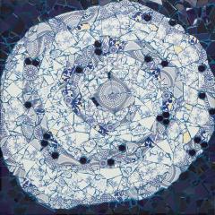 Mariana Lloyd One of a Kind Contemporary Spiral Mosaic 01 by Brazilian artist Mariana Lloyd - 1252699