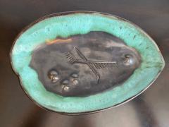 Marianna Von Allesch Mariana van Allesch 1940s American Studio Pottery Leaf Bowl - 1987431