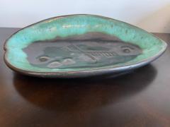 Marianna Von Allesch Mariana van Allesch 1940s American Studio Pottery Leaf Bowl - 1987435