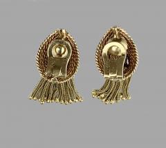 Marianne Ostier Ostier Gold Tassel Earrings - 868282