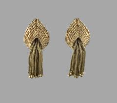 Marianne Ostier Ostier Gold Tassel Earrings - 868283