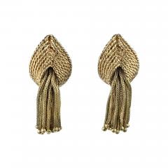 Marianne Ostier Ostier Gold Tassel Earrings - 876135