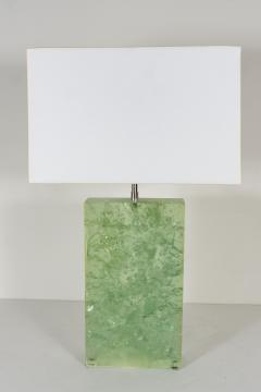 Marie Claude Fouquieres MARIE CLAUDE DE FOUQUIERES RECTANGULAR GREEN RESIN CRACKLED TABLE LAMP - 1614381