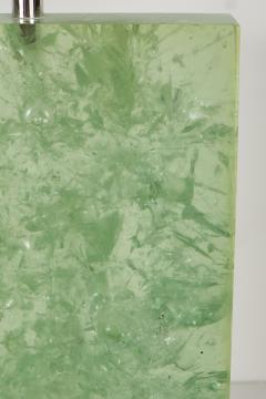 Marie Claude Fouquieres MARIE CLAUDE DE FOUQUIERES RECTANGULAR GREEN RESIN CRACKLED TABLE LAMP - 1614387