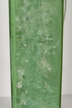 Marie Claude Fouquieres MARIE CLAUDE DE FOUQUIERES RECTANGULAR GREEN RESIN CRACKLED TABLE LAMP - 1614393