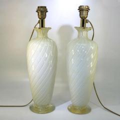 Marina Ravagnan Gabbiani Pair of Ravagnan Gabiani Murano Table Lamps Italy 1960s - 1314936